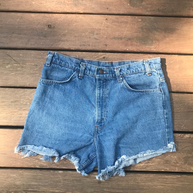 f96f55f4 VINTAGE LEVIS Cut off Jean Shorts High waisted Women's | Etsy