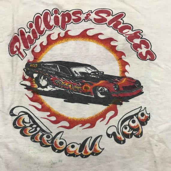 Vintage 70s, vintage ringer tee shirt, racing tee