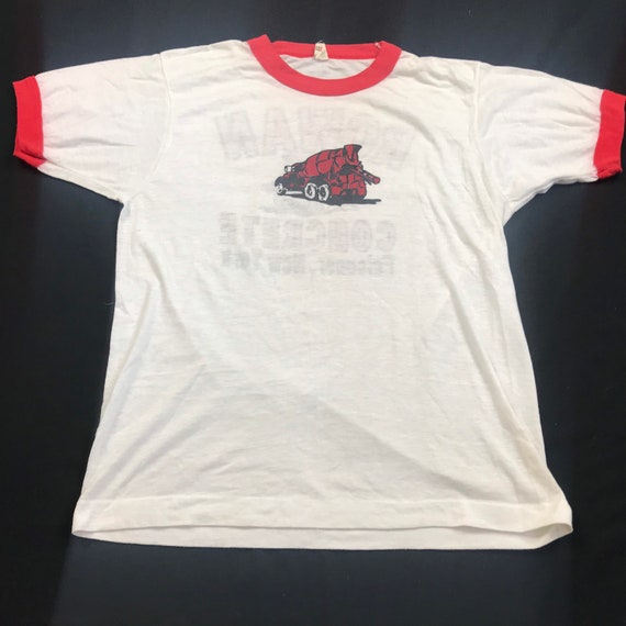 Vintage 80s, screenstars, Cement Company, ringer t