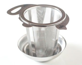 Durable Stainless Teapot Strainer with rest - Cup of Joy Tea