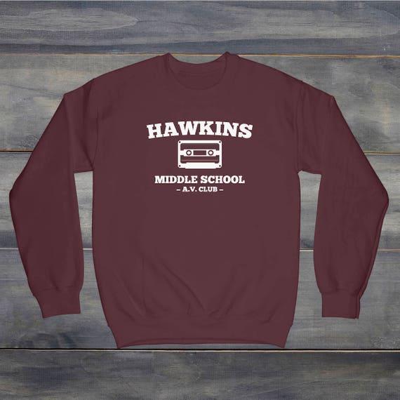 Hawkins Middle School Hoodie Eleven Demogorgon Unisex Adult /& Kids Hoodie Top