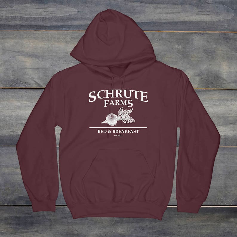 a158bf603 Schrute Farms Sweatshirt Dunder Mifflin Hoodie The Office | Etsy