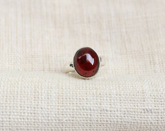 Natural Red 12x10 MM Almandine Garnet Handmade Designer ring available in all ring sizes US,UK and European available *#birthstone ring
