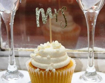 Mrs Cupcake Toppers