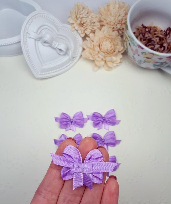 Crafts Weddings Card Making Scrap Book Lavender 7mm Satin Ribbon Bows