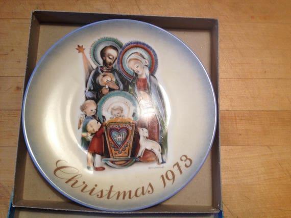 Schmid By Berta Hummel Christmas 1973 Collector Plate