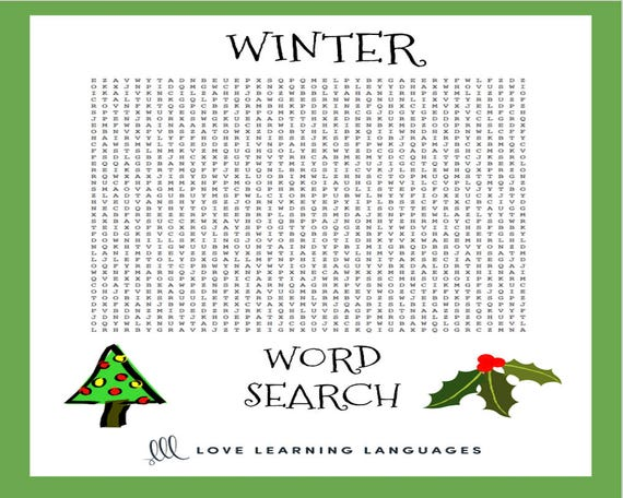 image relating to Winter Word Search Printable titled Wintertime Crossword Puzzle and Term Seem - Social gathering Activity Printables