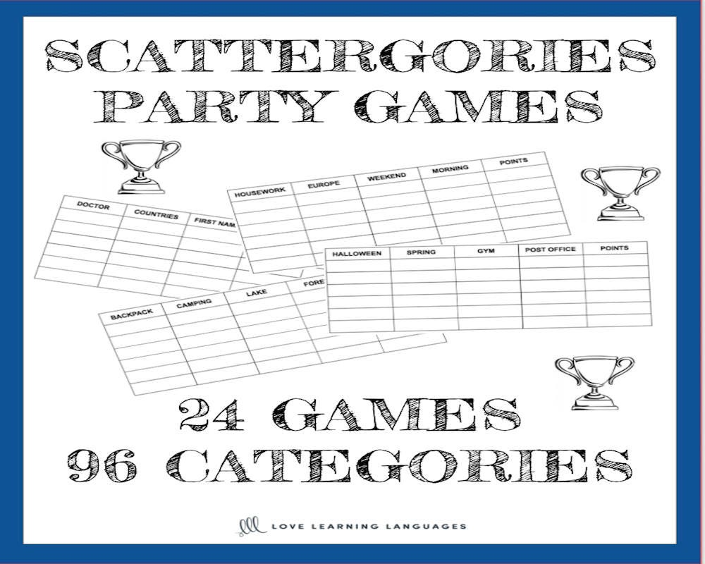 Scattergories Party Games 24 Games and 96 Categories | Etsy