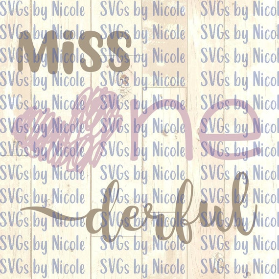 Miss Onederful Svg Etsy