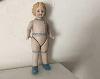 1982 Shackman BSCO Made In Japan Porcelain Doll 7 Inches Tall
