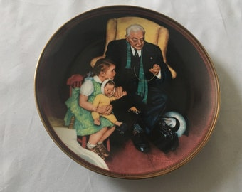 1988 Norman Rockwell Tender Loving Care Limited Edition Collector Plate The Ones We Love
