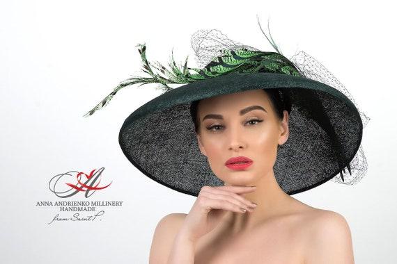 Female green wide-brimmed hat Royal Emerald Royal  703934e83df