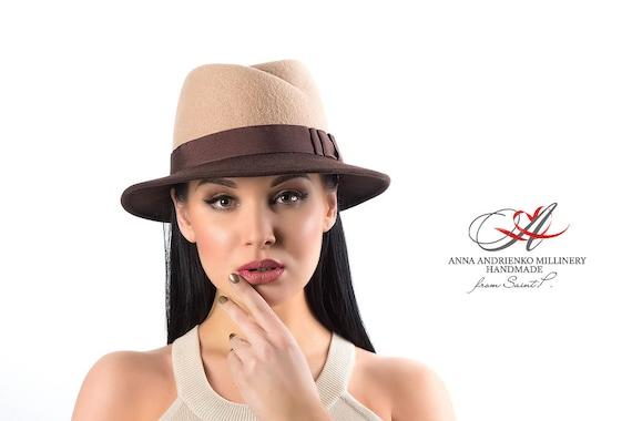 Le donne cappello Two-tone femmina sentivo cappello  31c75b48d7de