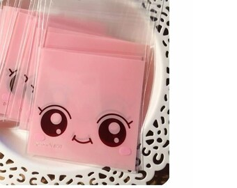 Self Adhesive Plastic Gift Bag Cookie Candy Biscuit Small Gift Bag - 20pcs