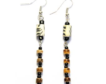 Seed Bead Drops Handmade Earrings