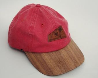 3602f3d028a Palm Trees Wood Brim Hat