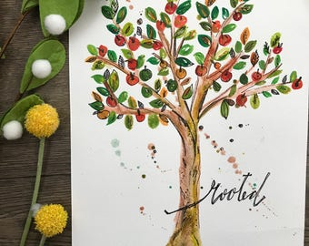 Rooted Watercolor Print
