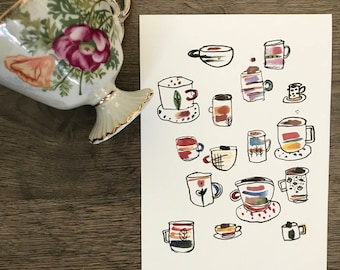 Have Some Coffee Watercolor Print