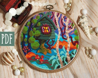 Nature cross stitch | Etsy
