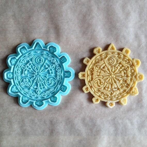 Legend of Zelda cookie cutter  Triforce of golden goddesses cookie stamp   Pattern Zelda legend cookies