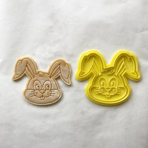 Easter egg cookie stamp Easter basket stuffers Easter cookie cutter Happy Easter Day lettering cookies