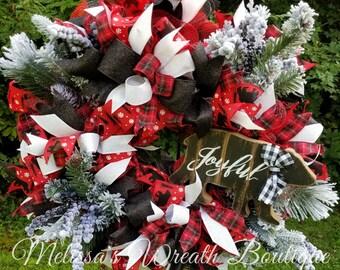 winter wreath winter wreaths for front door black bear decor christmas wreath christmas decor christmas wreath for front door - Black Bear Christmas Decor