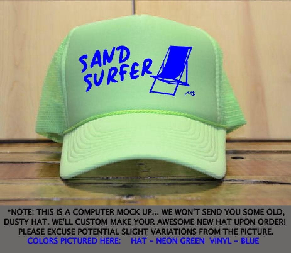b8772ad48af Sand Surfer Trucker Hat   Beach Hat   Beachy Trucker Hat