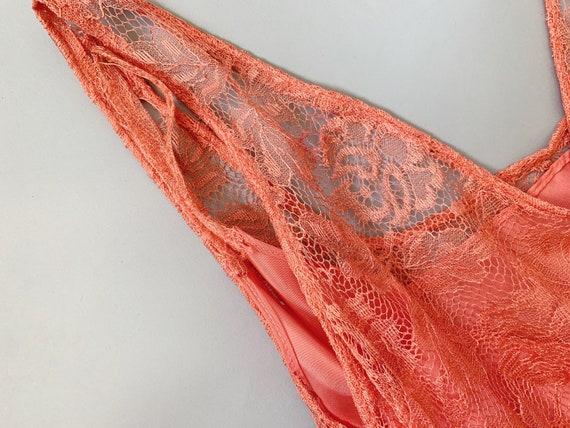 1930's Peach Lace Gown  - Vintage 30's Art Deco P… - image 9