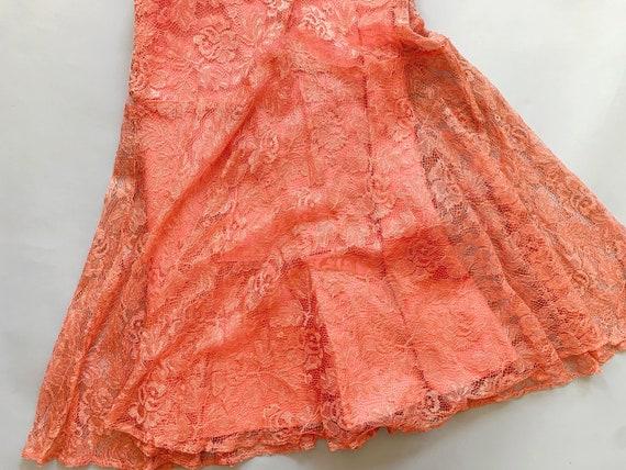 1930's Peach Lace Gown  - Vintage 30's Art Deco P… - image 6