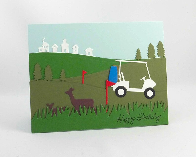 Happy Birthday Golf Card Masculine For Him Fathers