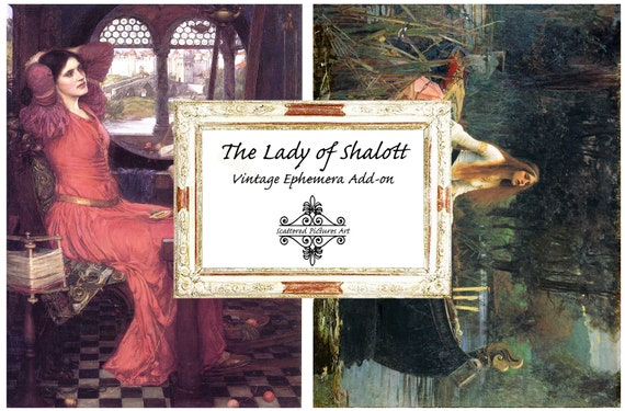 21 Pages The Lady of Shalott Vintage Journal Junk Journal Printable Journal Kit