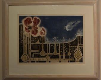 "Jack Coutu (b.1952) English ""Summer Landscape"" folio copy, etching and aquatint"
