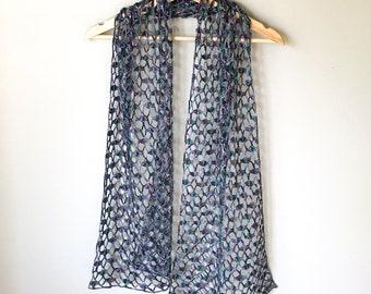 Crochet Lacy Scarf   Crochet Scarf   Crochet Wrap   Crochet Pattern Download