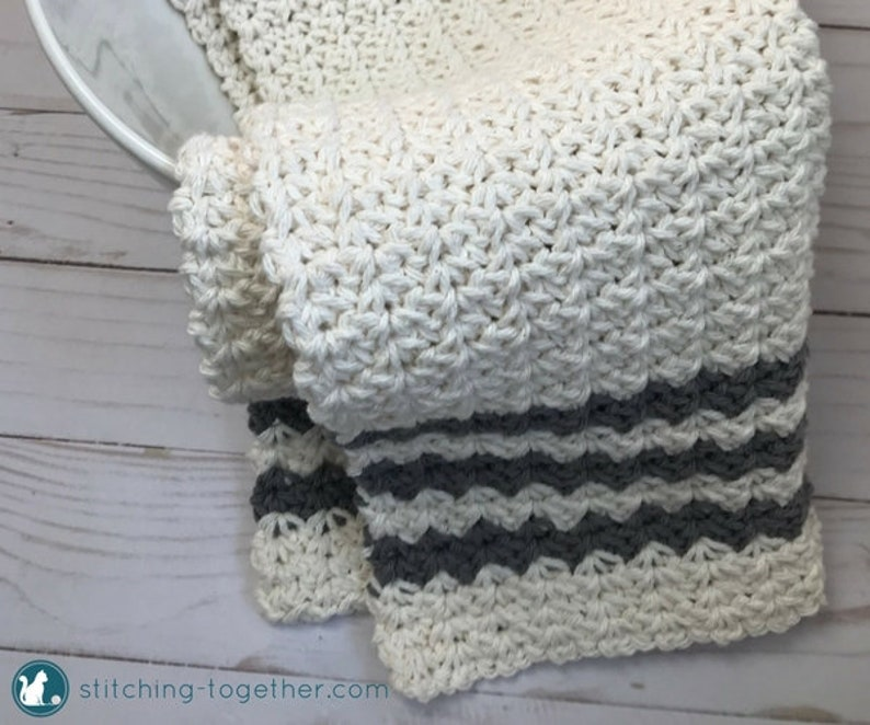 Crochet Farmhouse Dish Towel Pattern Country Hand Towel Etsy