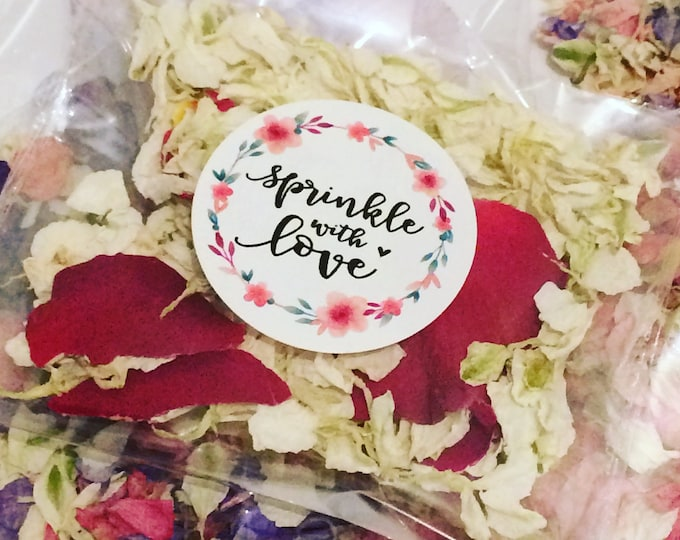 Featured listing image: Petal Confett: Roses Are Red larger Petal Biodegradable Confetti, Pack of 5