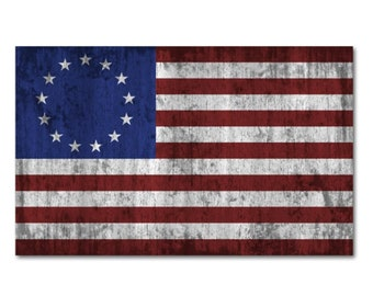 50 Pack Betsy Ross Historic Flag Sticker
