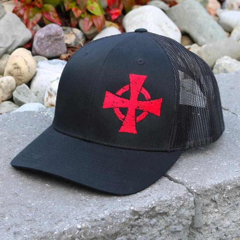 The Crusader Snapback Hat Black