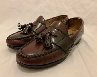 4f04a4ca396 Cole Haan Womens Pinch Tassel Loafer Shoes Burgundy Size 7 B