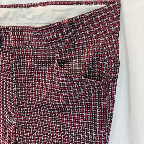 Vintage 70's Knit Polyester Disco Mod Retro Pants… - image 10
