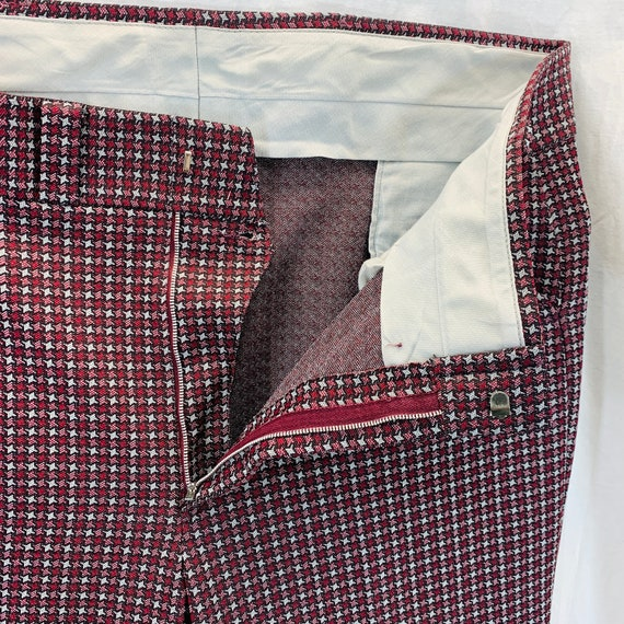Vintage 70's Knit Polyester Disco Mod Retro Pants… - image 7