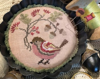 Jeannette Douglas Designs CHUBBY BIRD Cross Stitch Pattern ~ Fall 2021 Needlework Expo