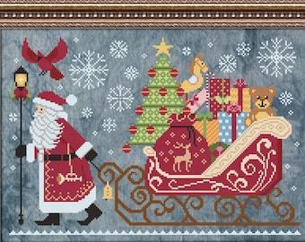 Cottage Garden Samplings CHRISTMAS DELIVERY Cross Stitch Pattern - Christmas Cross Stitch