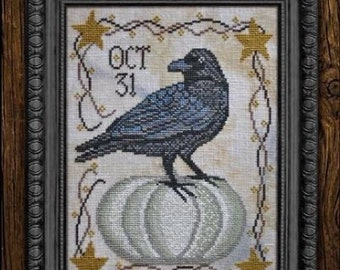 Cottage Garden Samplings OCT 31 Cross Stitch Pattern - Time For All Seasons Series #10