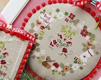 Madame Chantilly BEST WISHES Cross Stitch Pattern ~ Christmas Cross Stitch ~ New Cross Stitch