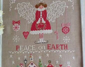 Cuore E Batticuore Pace In Terra (Peace On Earth) Cross Stitch Pattern - Christmas Cross Stitch