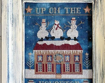 Teresa Kogut UP On The HOUSETOP Cross Stitch Pattern ~ Fall 2021 Needlework Expo ~ New Christmas Cross Stitch