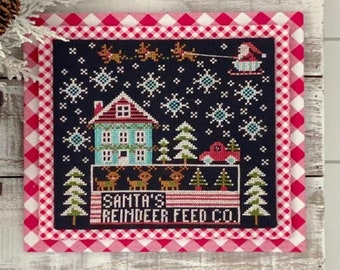 Stitching With The Housewives CALENDAR CRATES DECEMBER Cross Stitch Pattern ~ Priscilla Blain