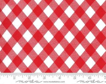 Sunday Stroll by Bonnie & Camille for Moda Fabrics –White Red Picnic Yardage - MODA FABRIC