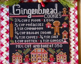 Stitching With The Housewives GINGERBREAD COOKIES Cross Stitch Pattern ~ Priscilla Blain - Pre-Order