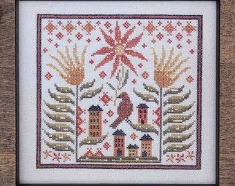 Hello From Liz Mathews BITTERSWEET VILLAGE  Cross Stitch Pattern ~ Fall 2021 Needlework Expo